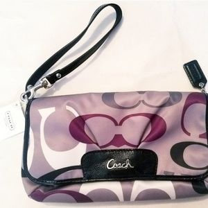NWT COACH Monogram Wallet/Clutch/Mini Purse